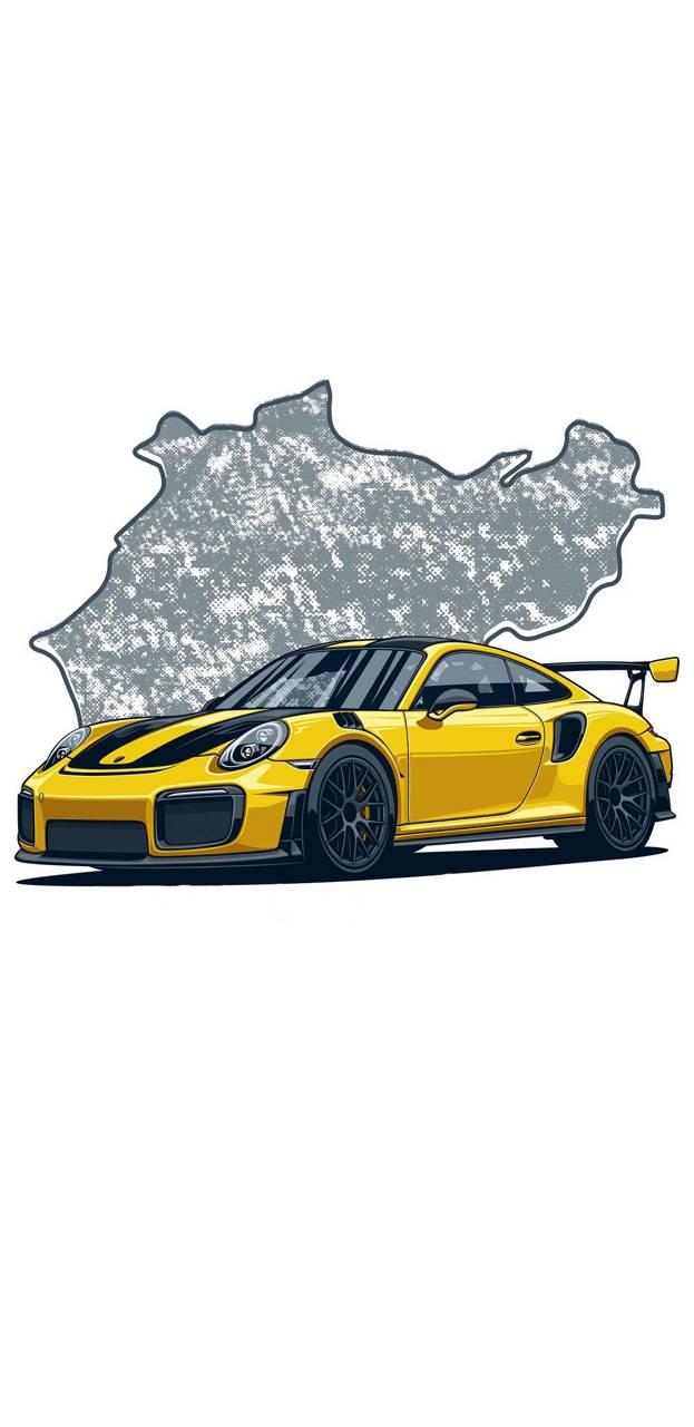 Porsche Drawing