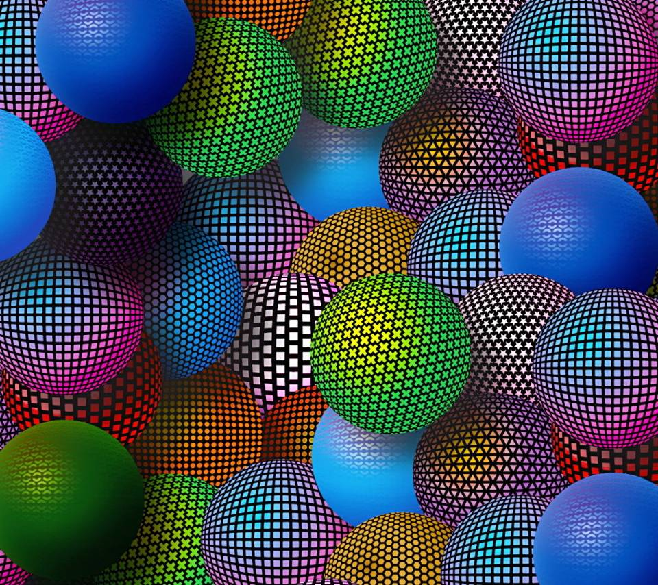3d Colorful Orbs