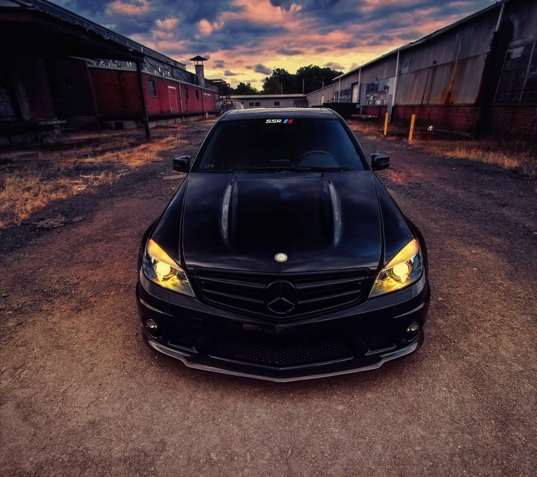 Black Mercedes C63