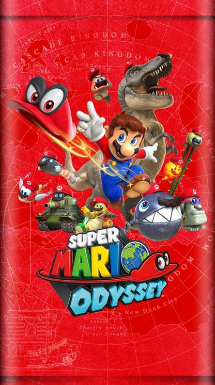 super mario odyssey wallpaper iphone