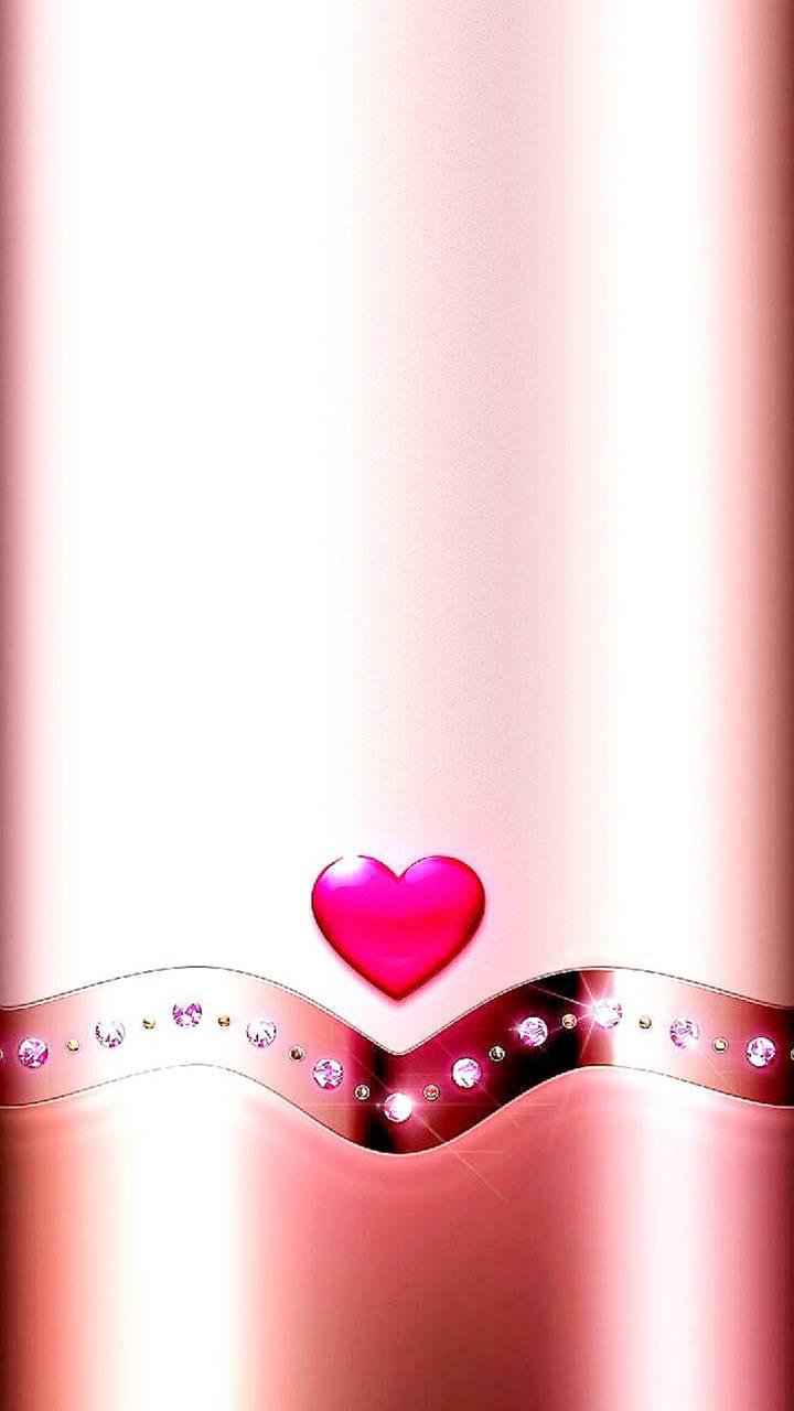 Edge pink heart