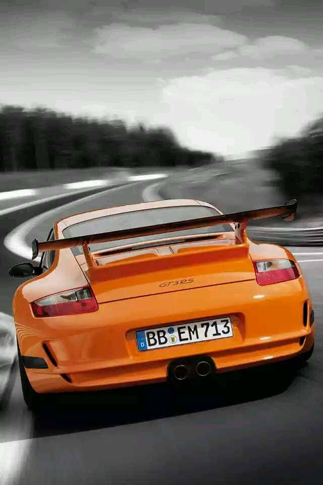 GT3RS orange car