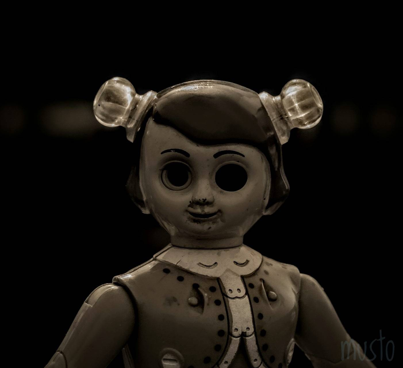 Scary doll black