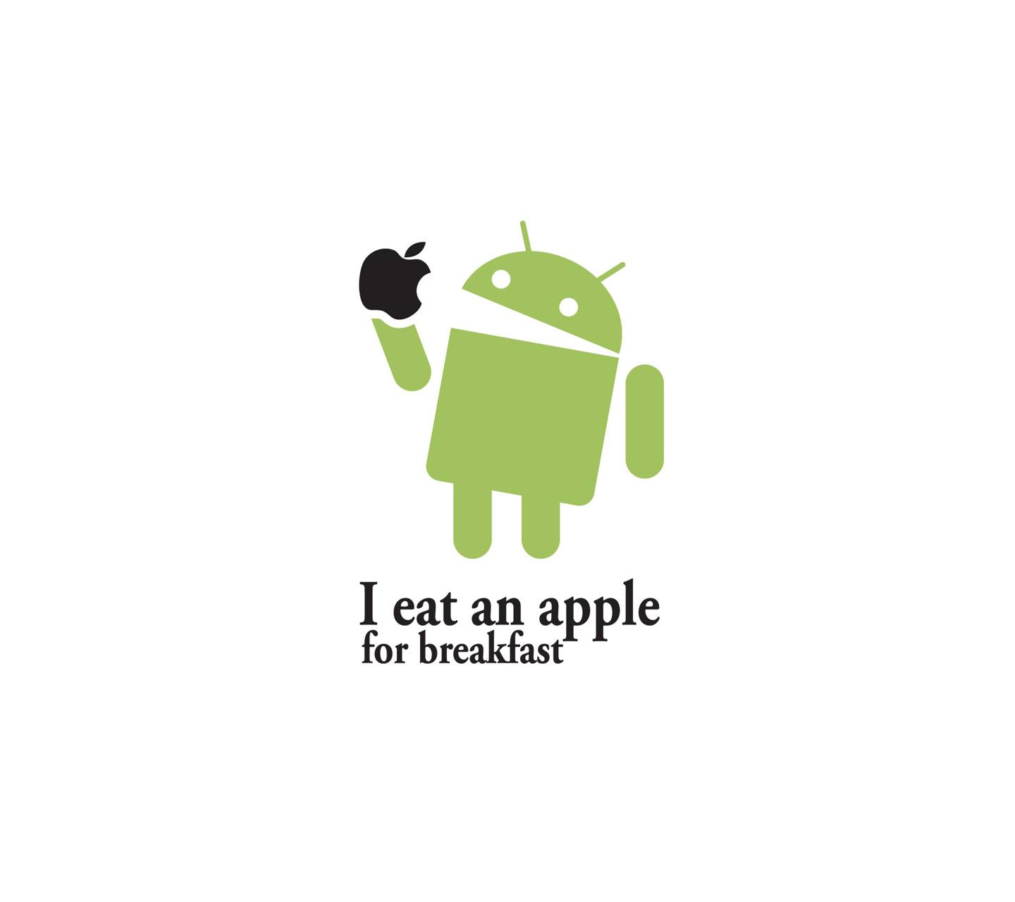 Android Eat An Apple