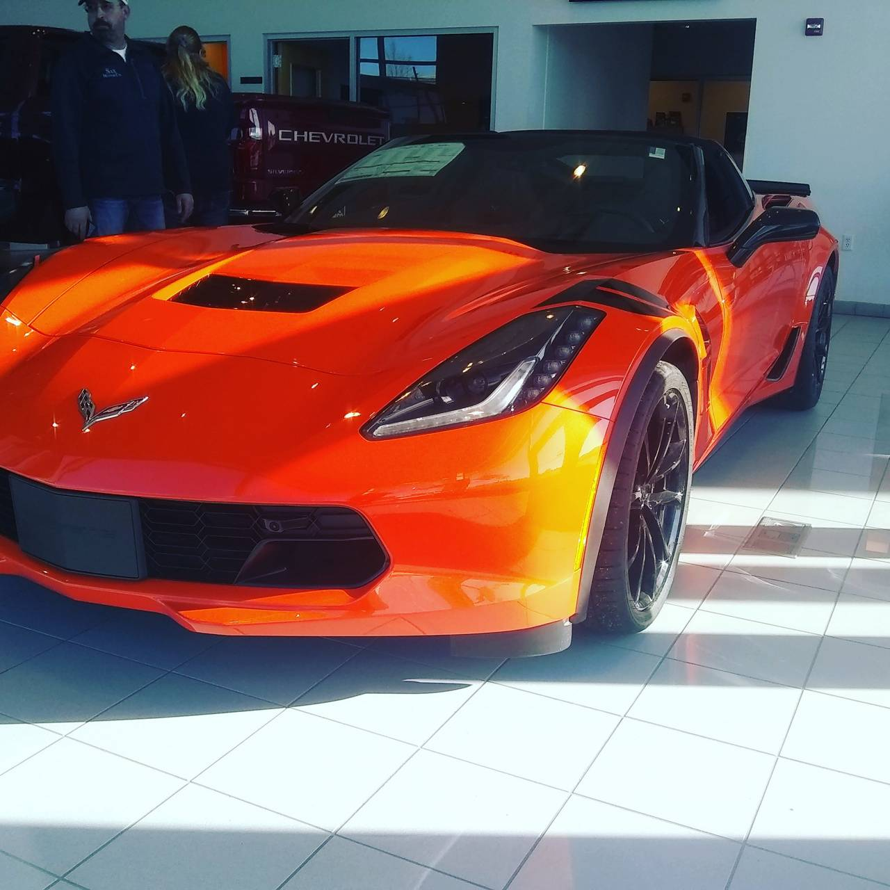 Orange Corvette