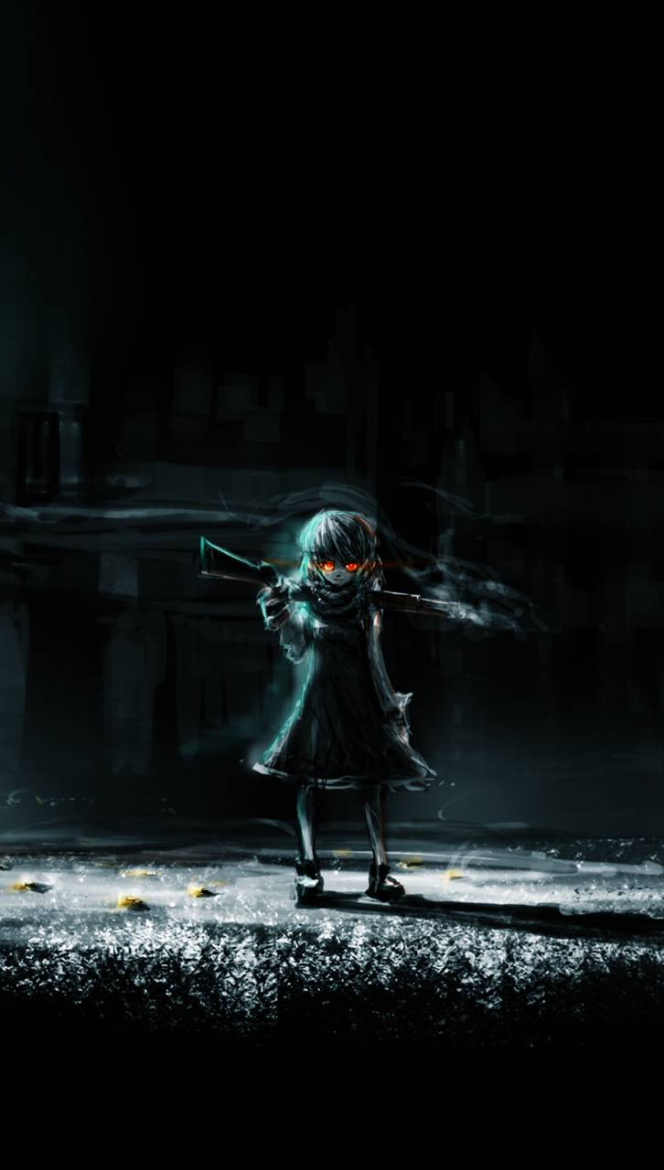 Dark anime girl art