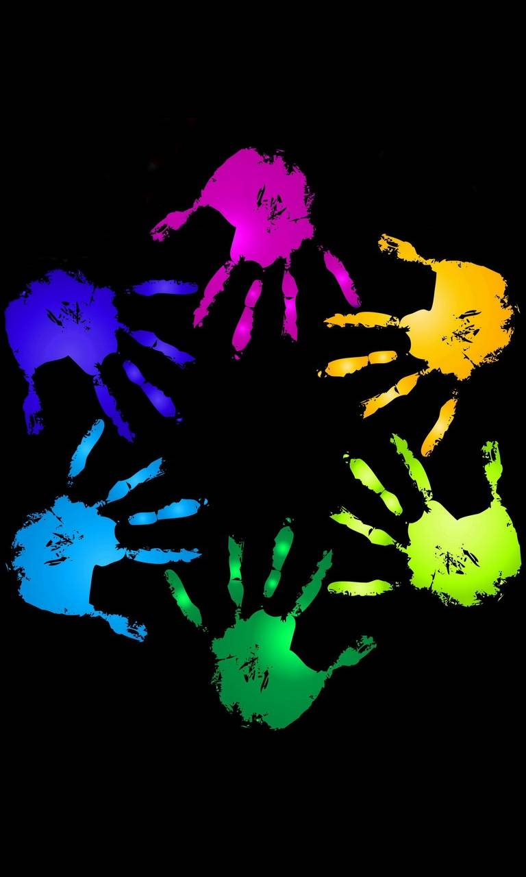 colourfull hands