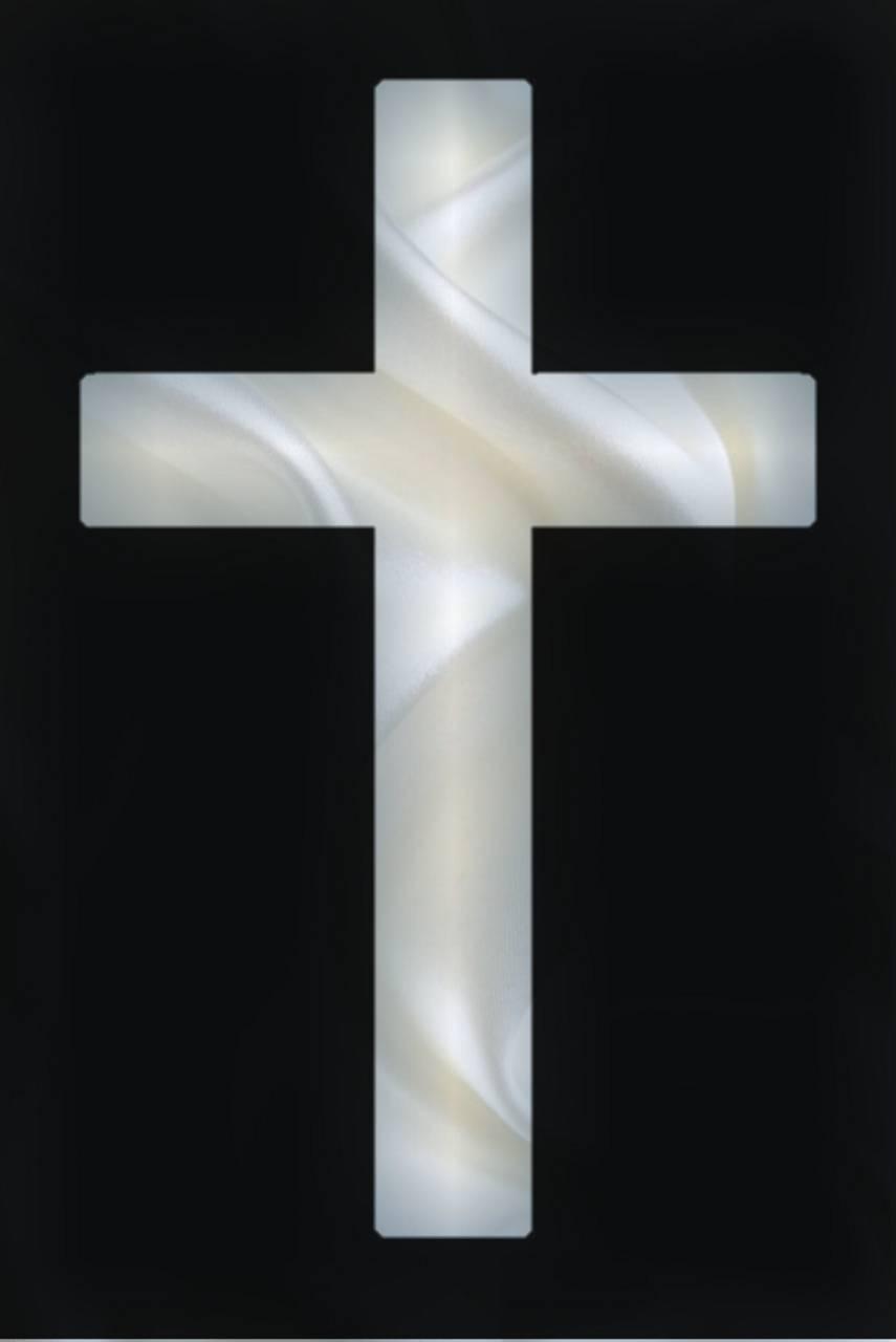 White Silk Cross