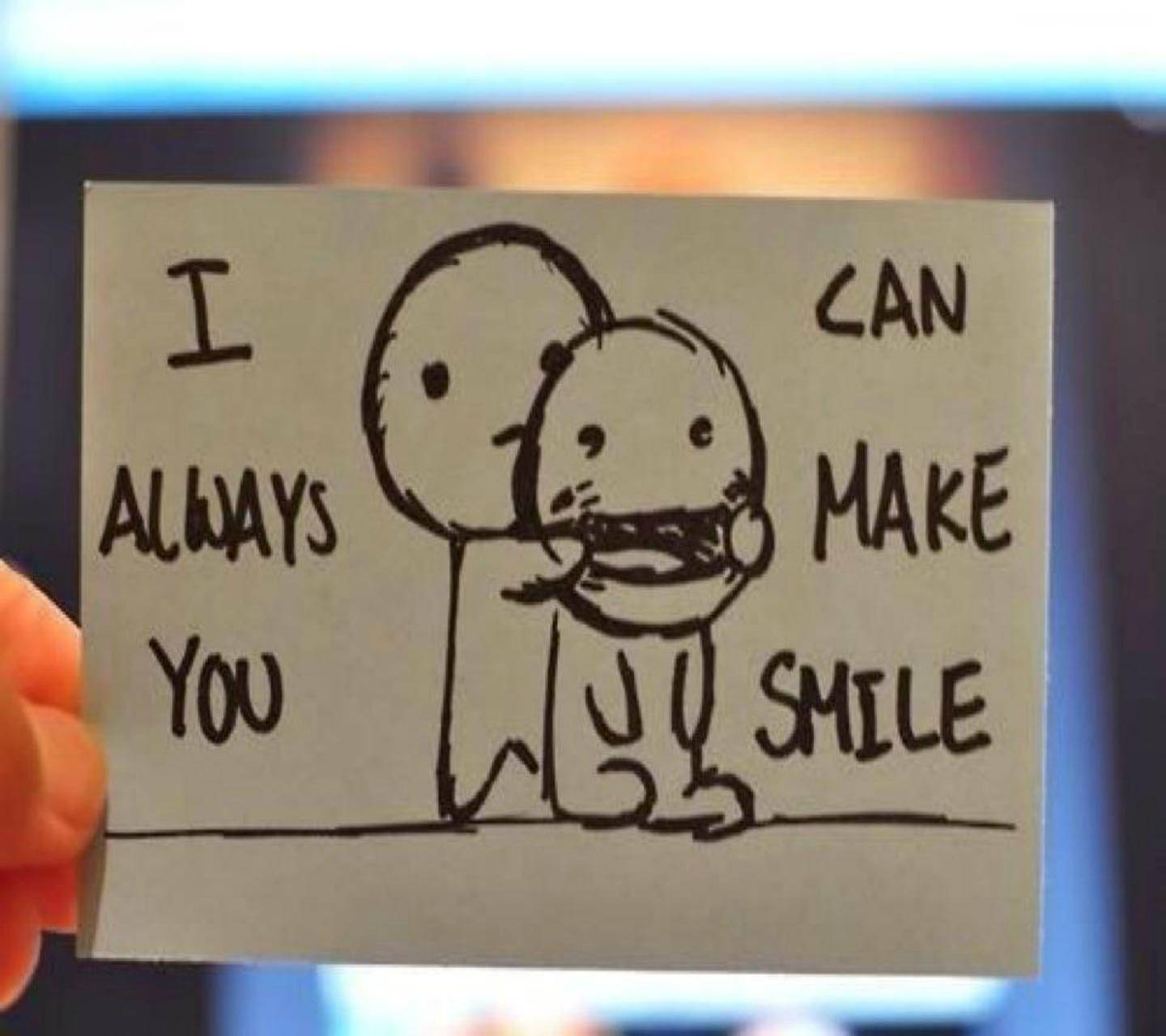 You can smile