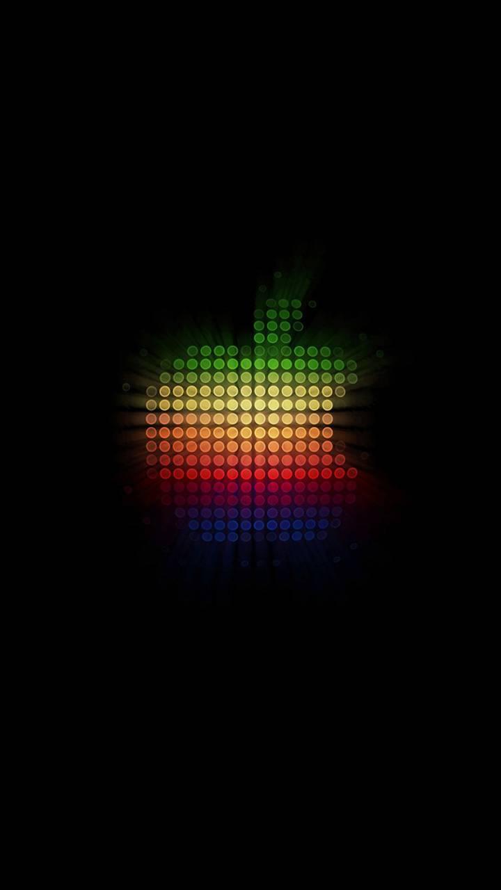 Glowing lights apple