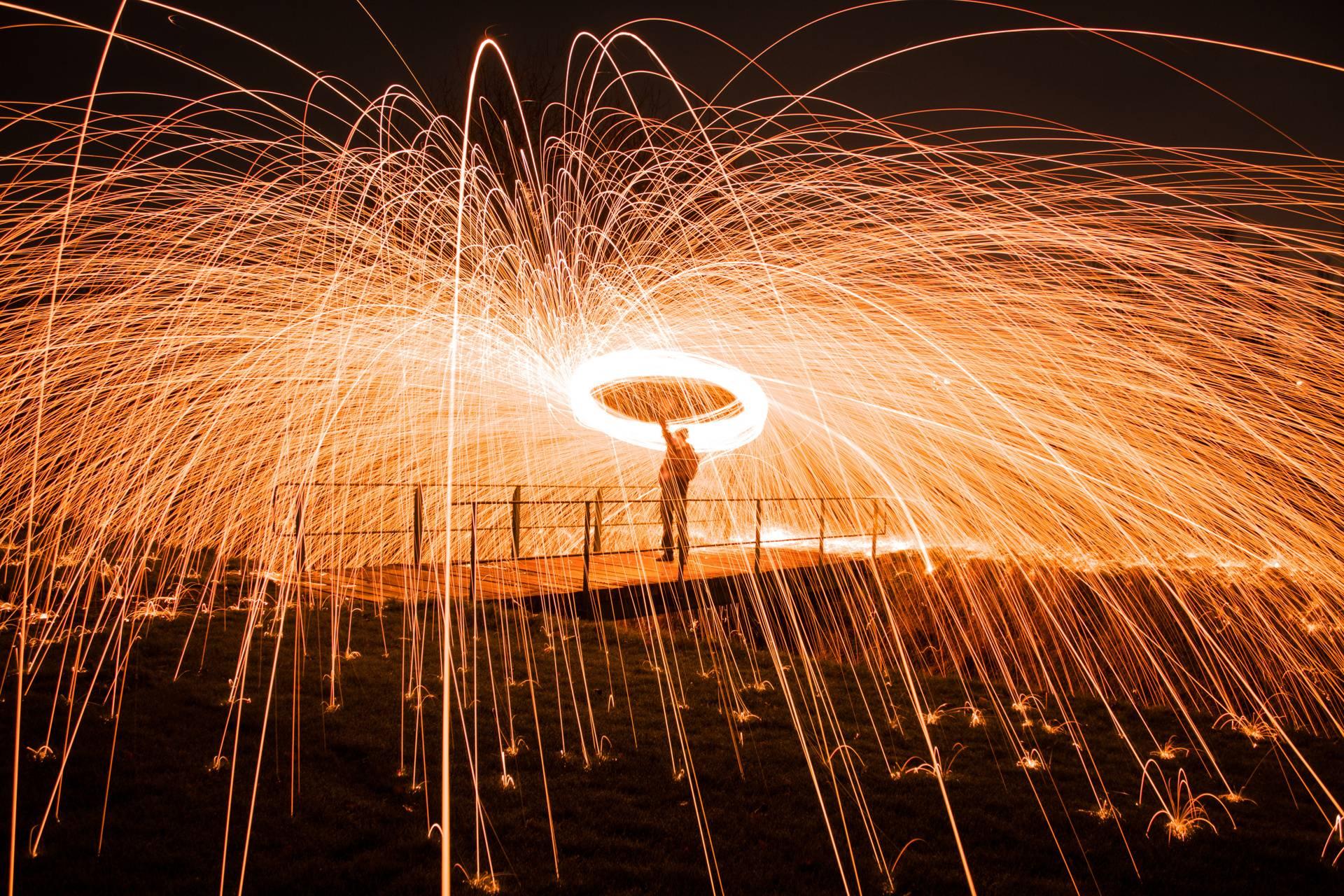 Footbridge wirewool