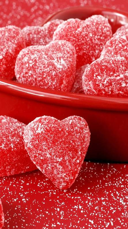 vday hearts candy
