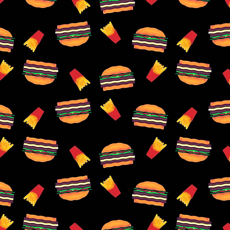Burgar and fries