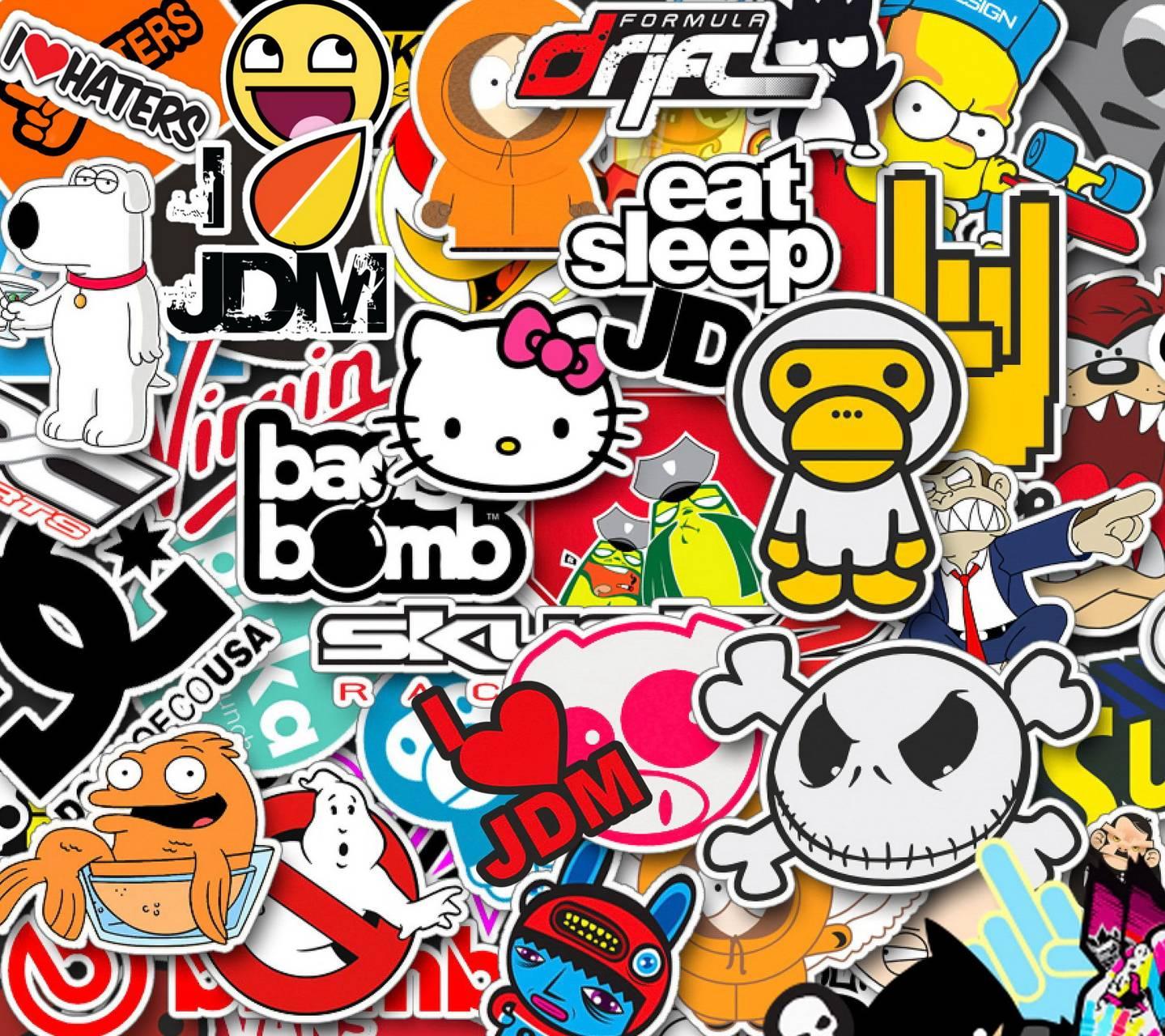 Stickerbomb Wallpaper By D Hart91
