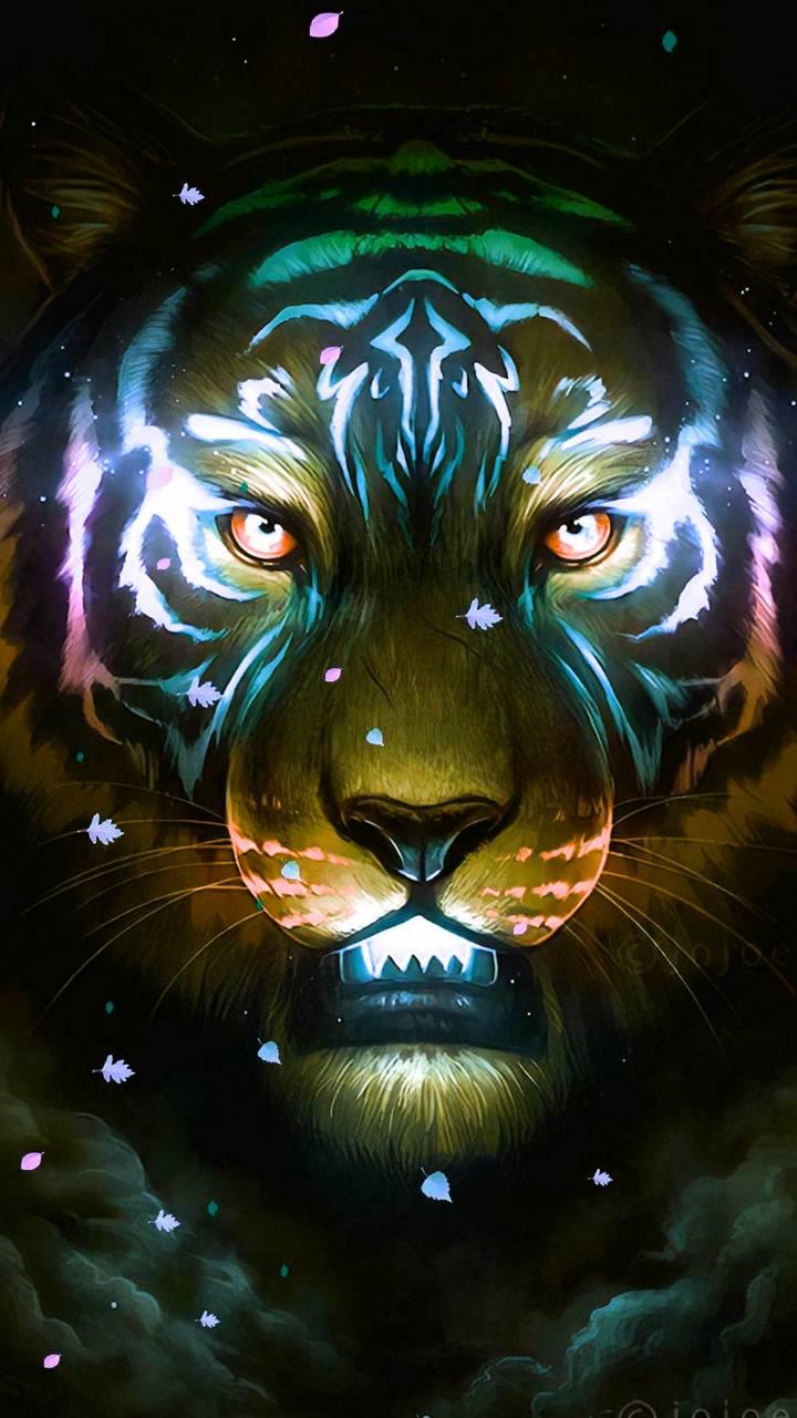 Neon Lion Wallpaper Goodpict1st Org