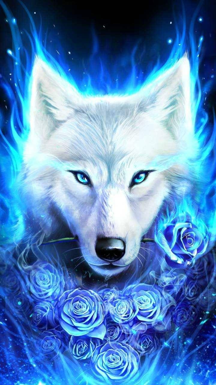 Ice wolf by Jesse
