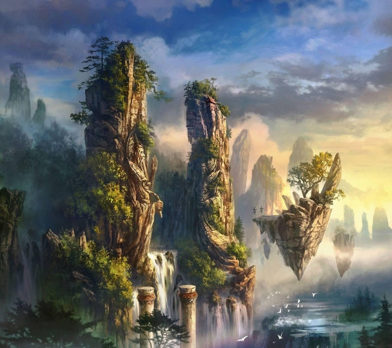 3d Art Waterfall