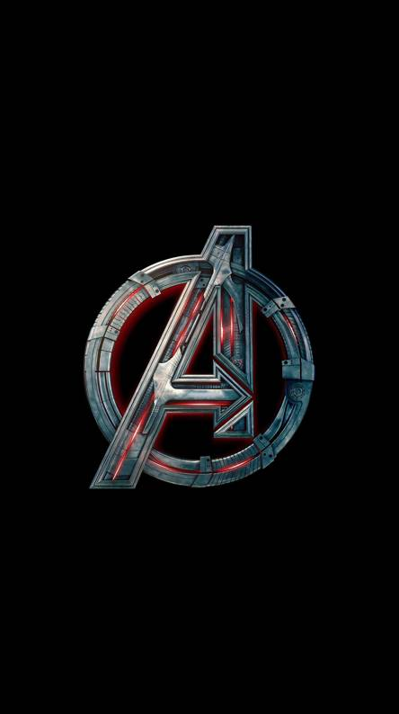 Avengers logo wallpapers free by zedge - Avengers amoled wallpaper ...