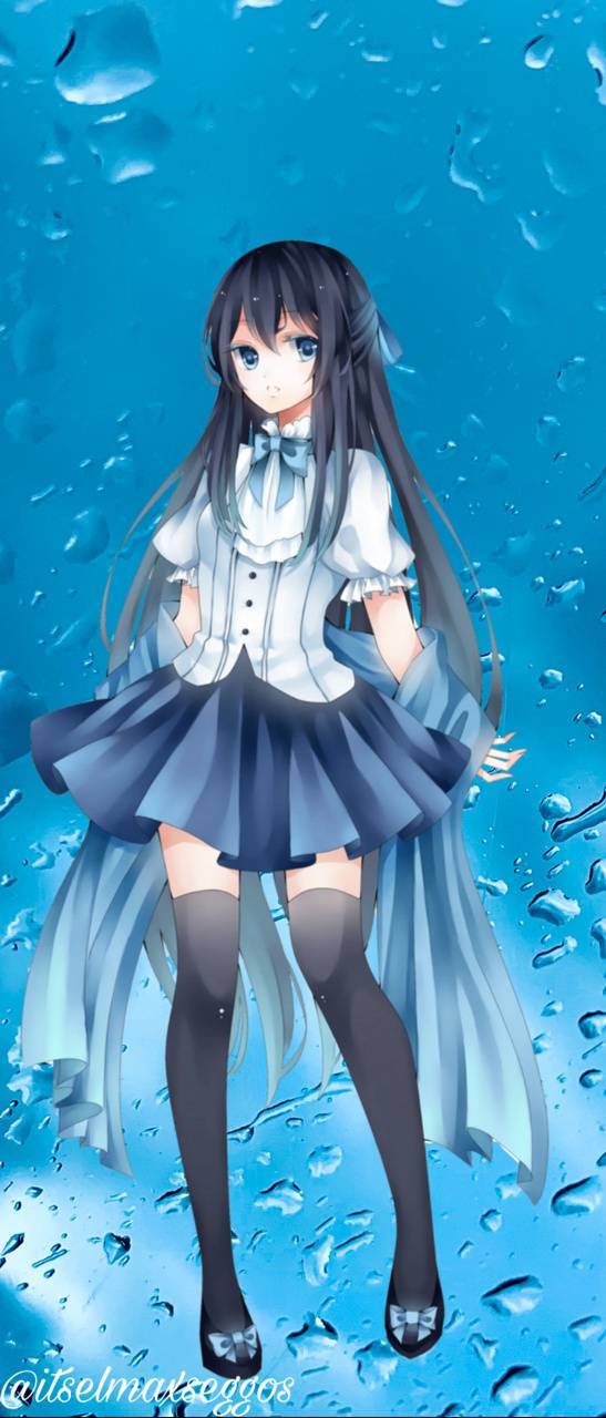 Blue Anime Girl