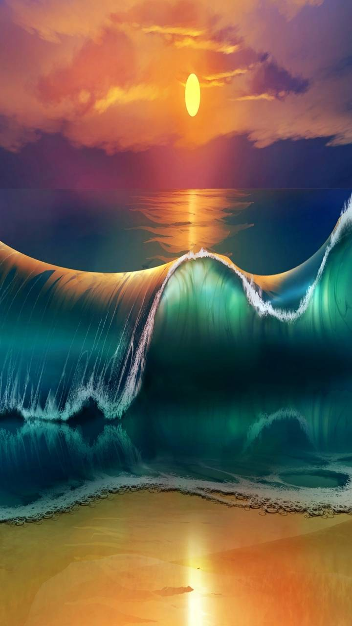 waves shore