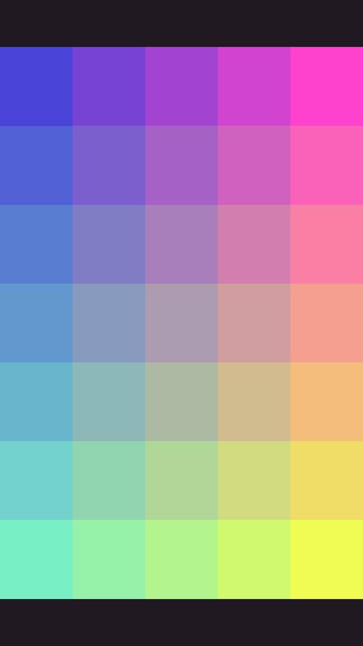Pixel color gradient