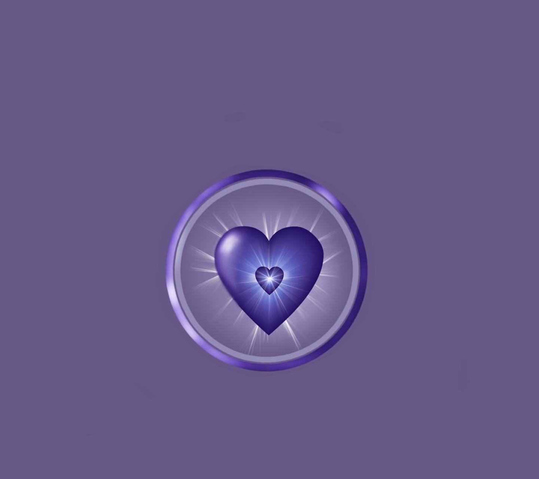 Shining Blue Heart2
