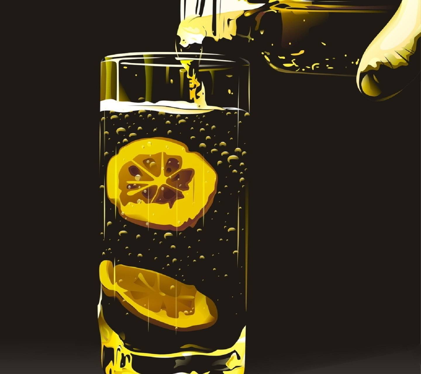 A Drink With Lemon