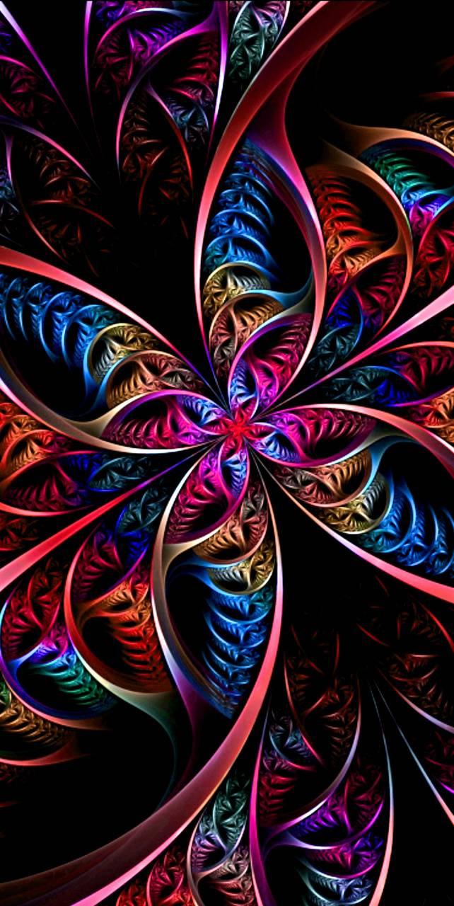 Neon Retro Flower