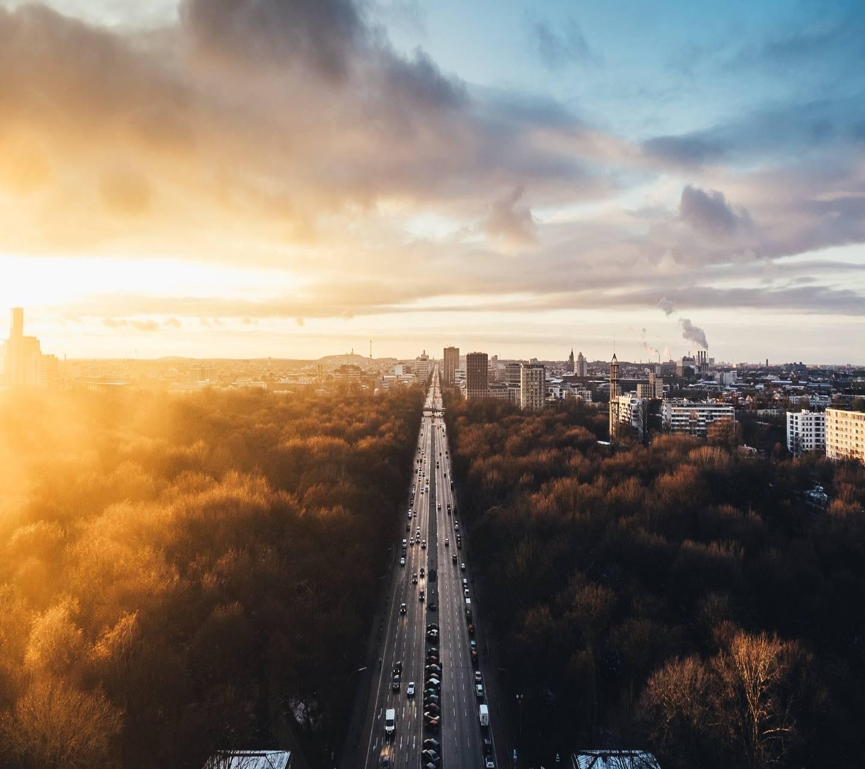 Sunset at Tiergarten