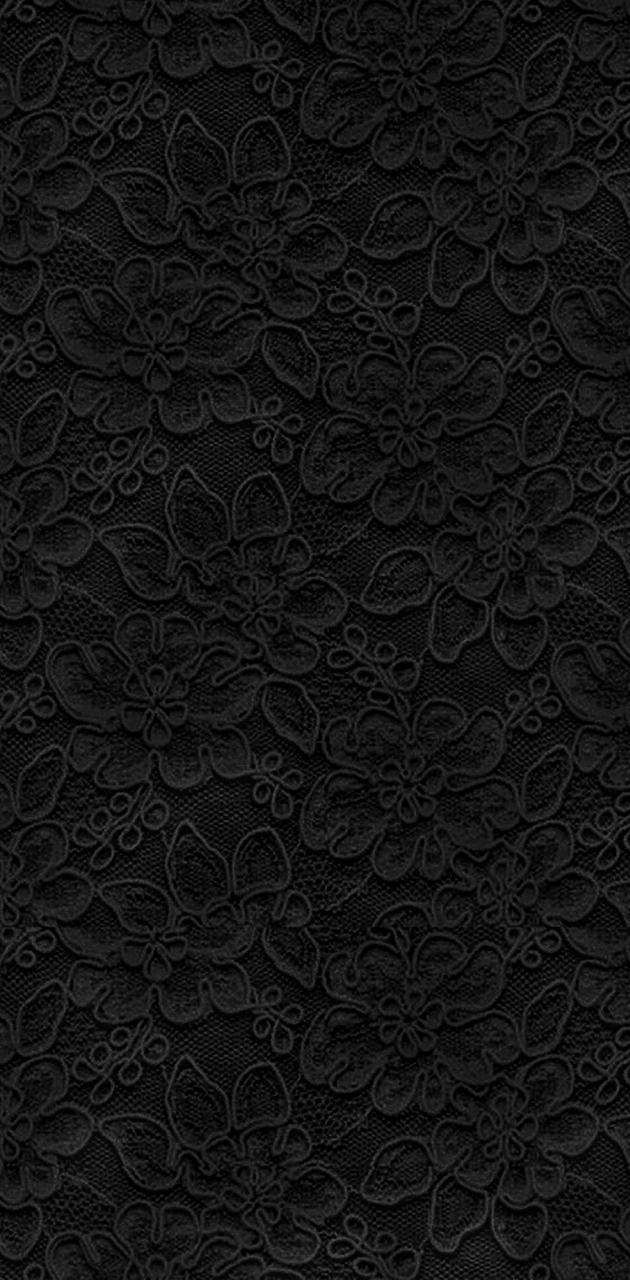 Grey Floral Lace