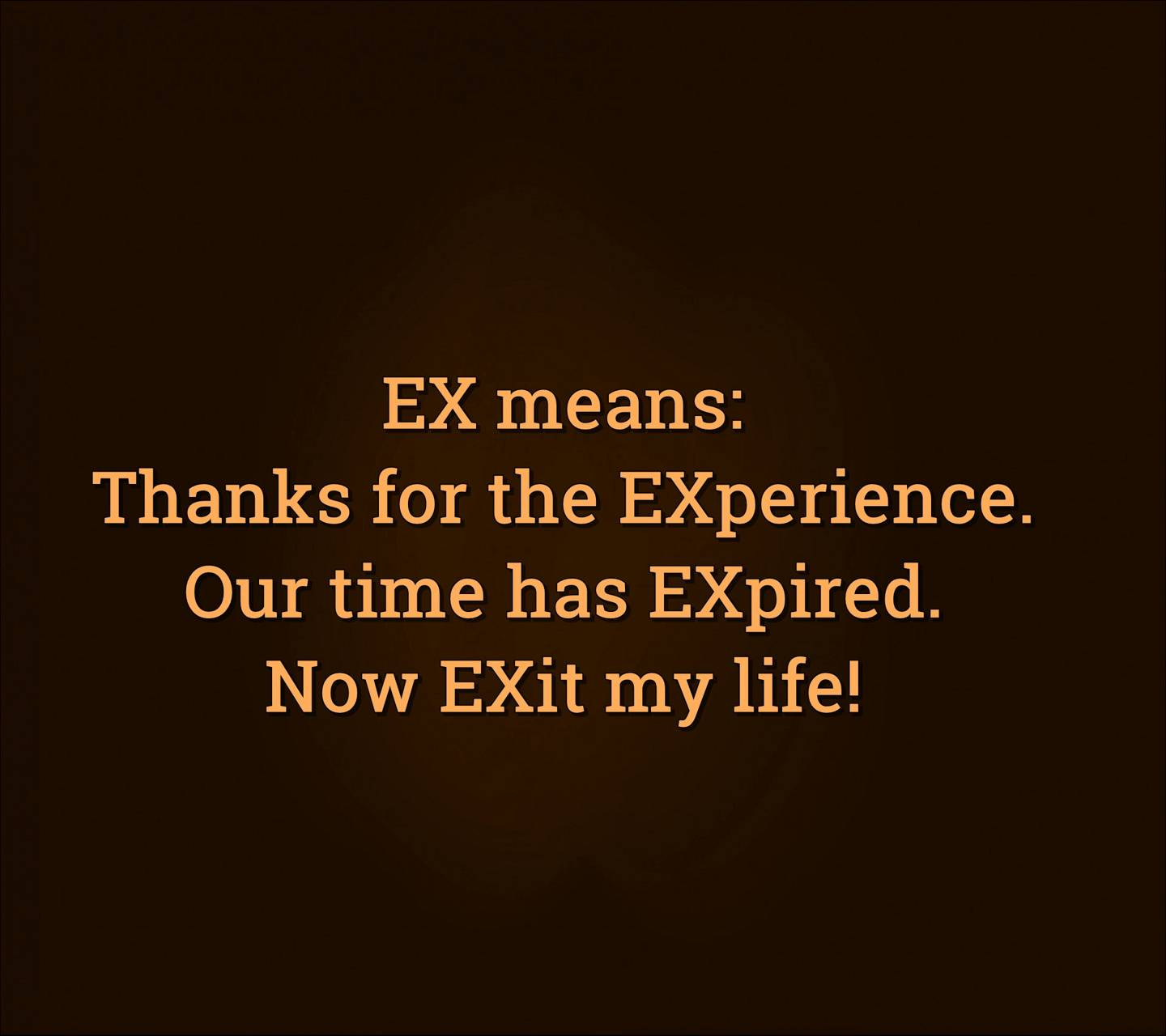 ex means