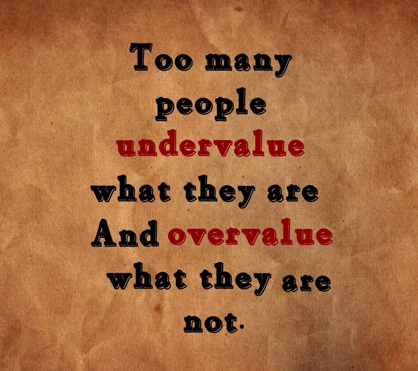 Undervalue