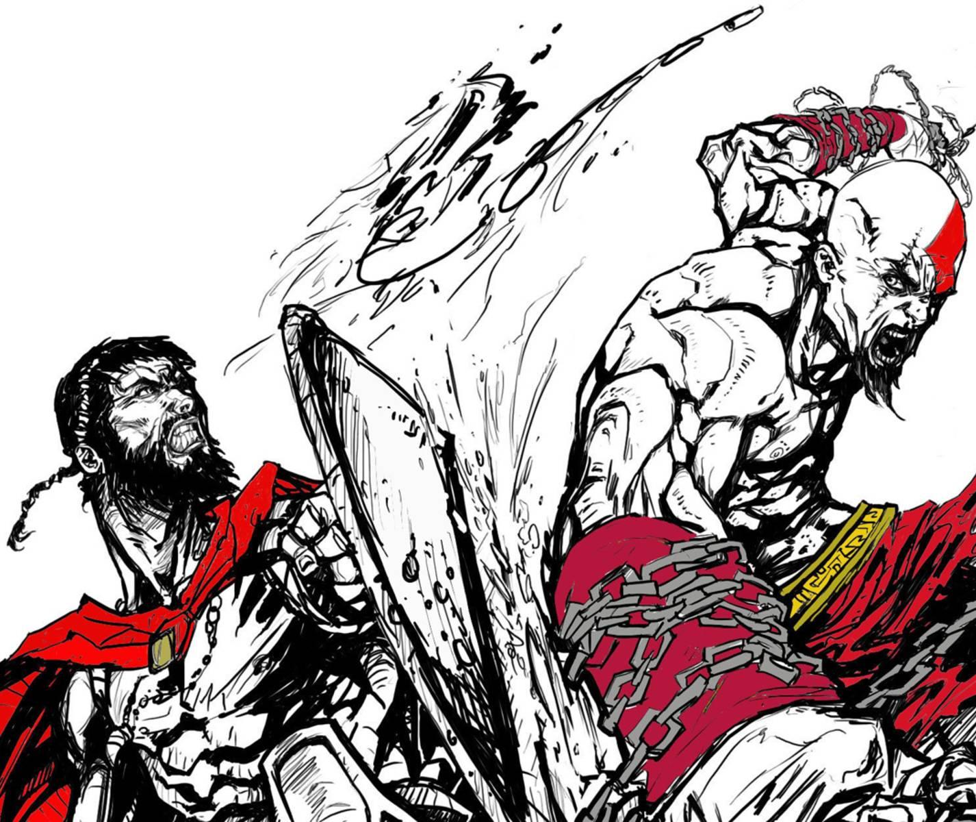 Leonidas Vs Kratos