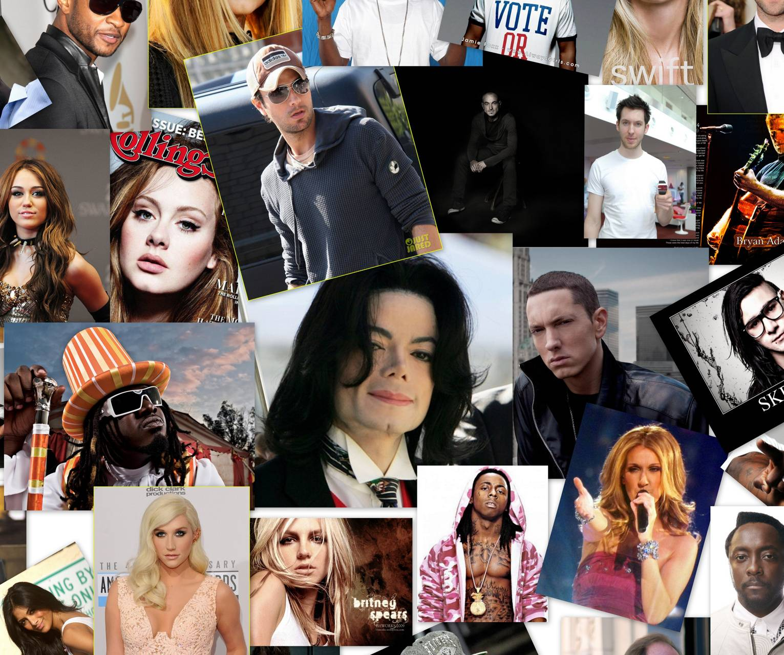 Singers Photocollage