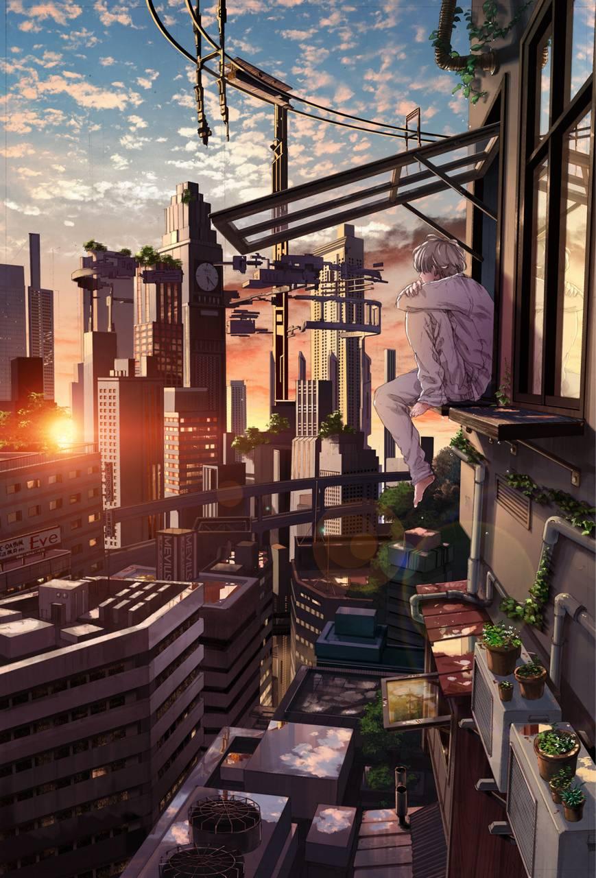city anime