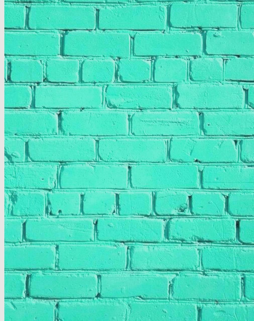 Teal Brick Wall