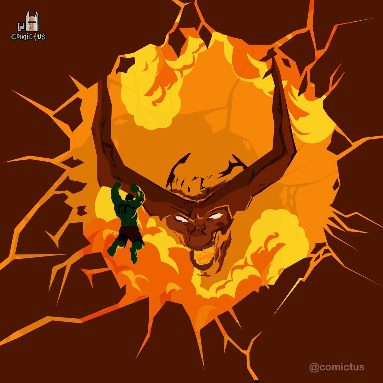 Hulk and firedemon