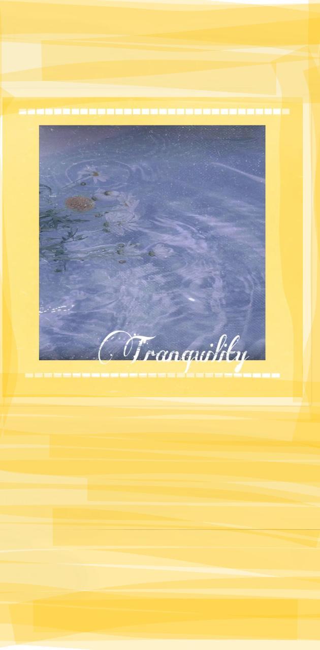 Tranquil flower lake
