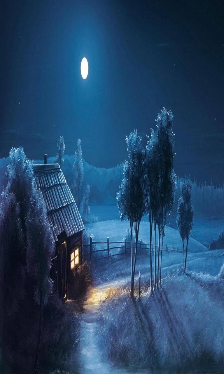 Moon Stars Night