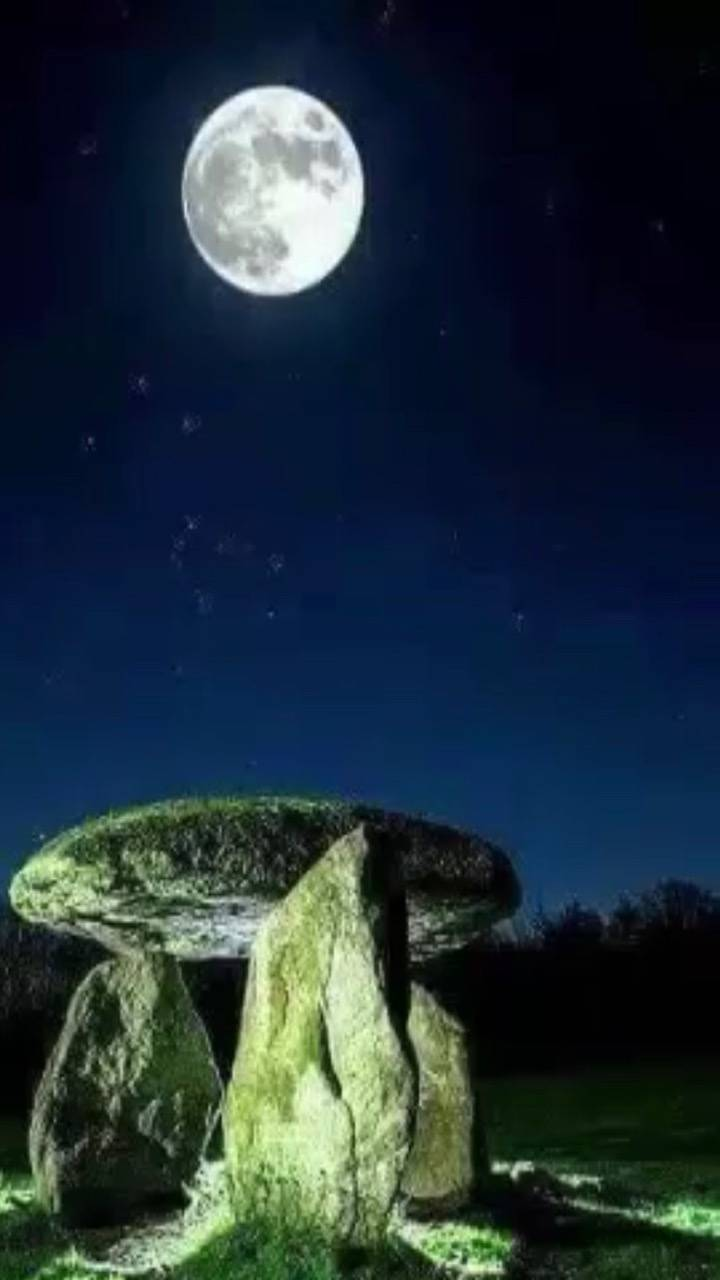 Stone and moon