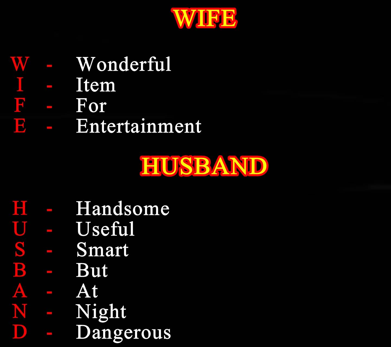 wife vs husband