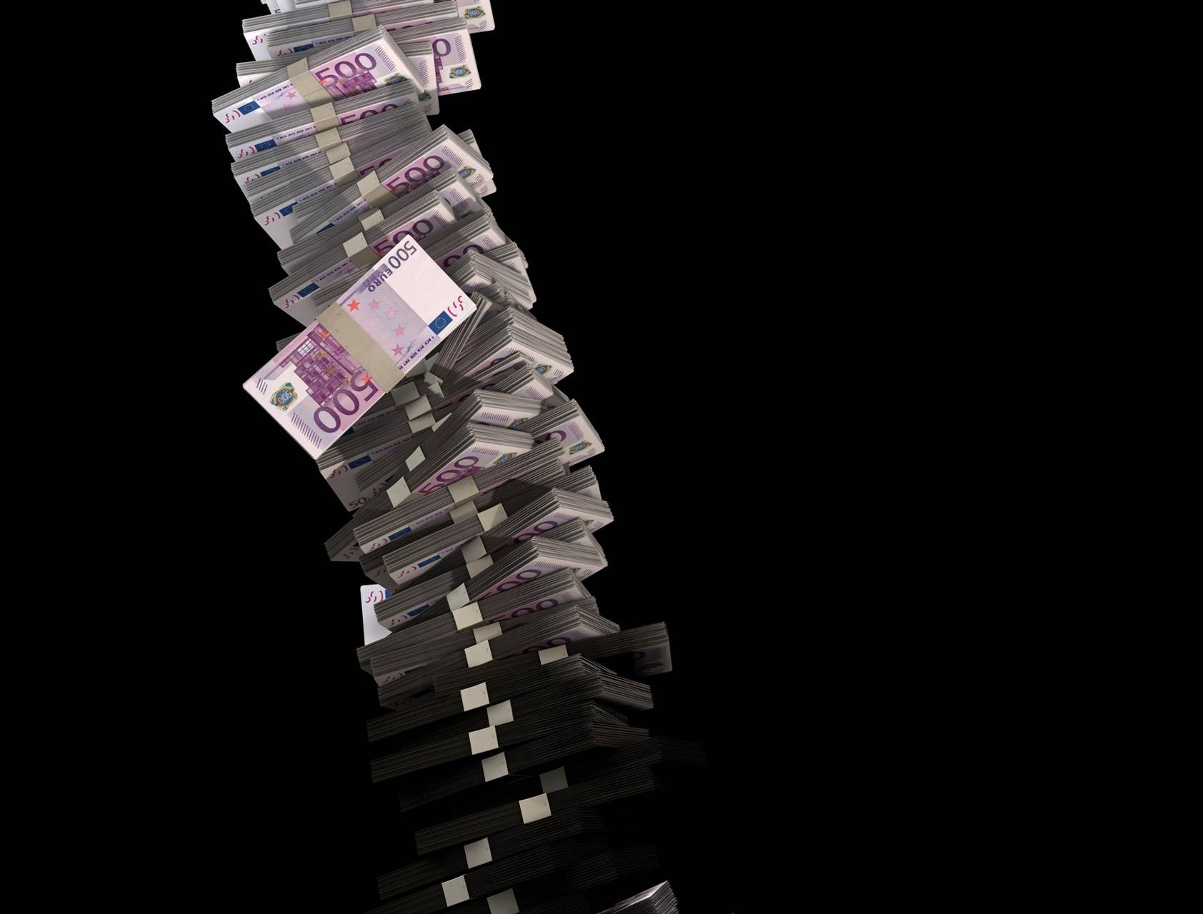 Paper Euro Stack 2