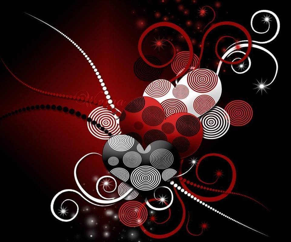Red Abstract Love