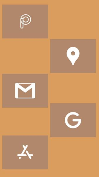 Brown icons 7