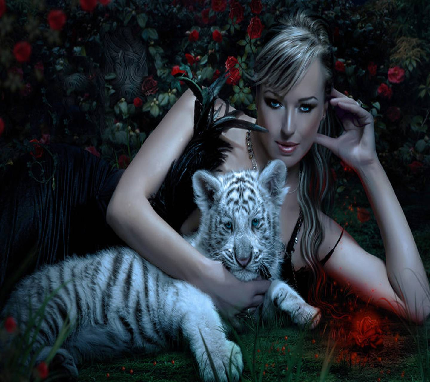 Beauty With Tiger