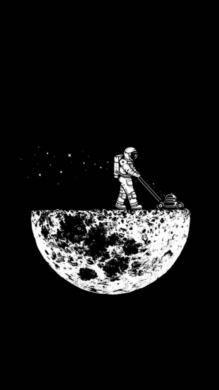 Man On The Moon Wallpaper By Elpajarito28 2a Free On Zedge