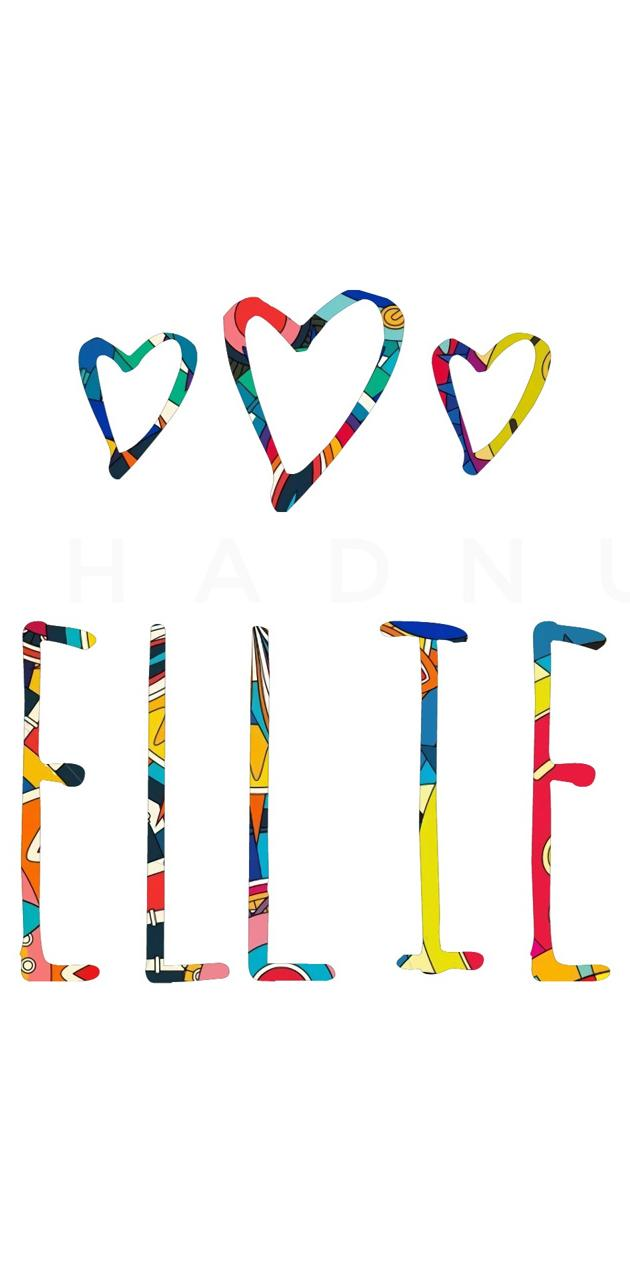 Ellie - Name Art