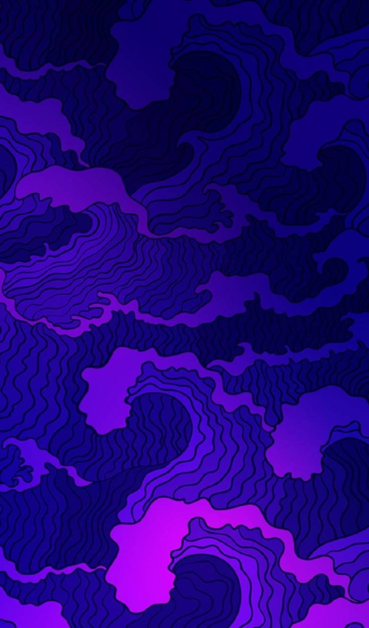 Purple  Waves