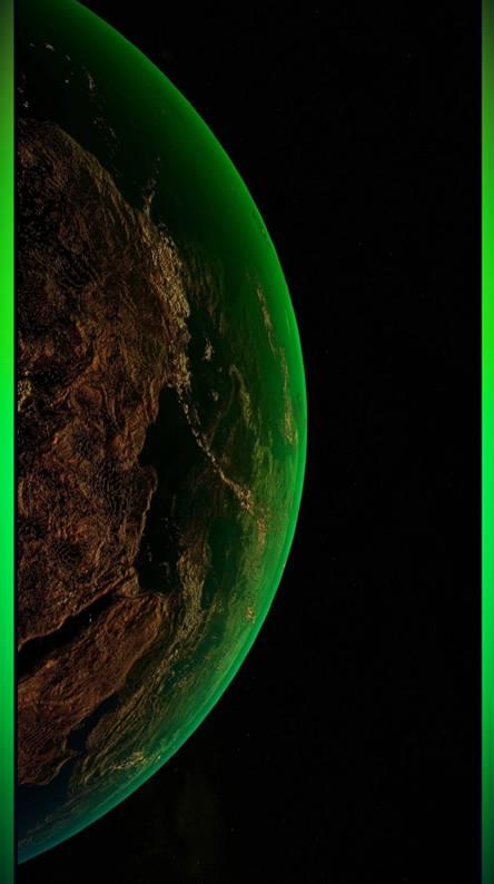 Green Earth Glow