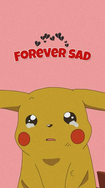 pikachu forever sad